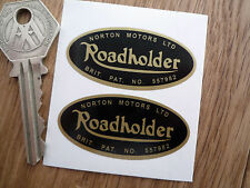 "NORTON ROADHOLDER Forks Stickers Dominator Manx Atlas Motorcycle Bike 2"" Pair"