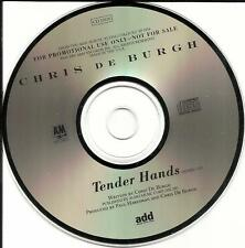 CHRIS DE BURGH Tender hands w/ RARE REMIX PROMO DJ CD single deburgh 1989 MINT