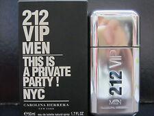 212 VIP Men by Carolina Herrera 1.7 oz Eau de Toilette Spray New In Box Sealed