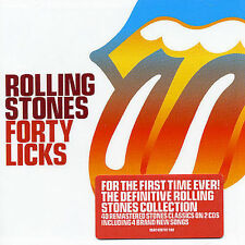 Audio CD: Forty Licks, Rolling Stones. Acceptable Cond. Import, Original recordi