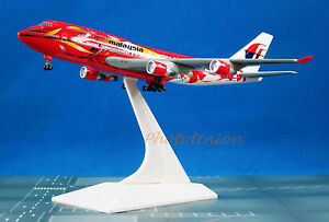 55519 N Dragon Wings Malaysia Airlines B747 1:400 Hibiscus Diecast Plane Model