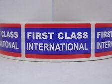 FIRST CLASS INTERNATIONAL USPS 1x2 Stickers Labels 250/roll