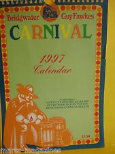 BRIDGWATER TOWN CARNIVAL CALENDAR 1997 24 X COLOUR PRINTS 1996 GUY FAWKES PARADE