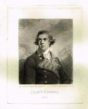 "Mezzotint Engraving Proof - By Sir Joshua Reynolds' ""ADMRIAL KEPPEL"" - c1820"