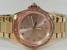 Juicy Couture Women's Stella Rose Gold-Tone Stainless Steel Bracelet Watch 36mm