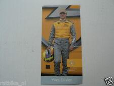 YVES OLIVIER OPEL DEUTSCHE TOURENWAGEN MASTERS 2002 INFOCARD-POSTCARD