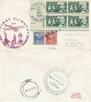 US 1959 TWA FAM 27 FIRST FLIGHT FLOWN COVER NEW YORK NY TO LONDON ENGLAND