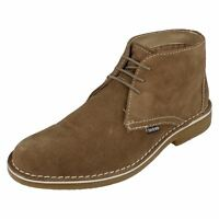 MENS LAMBRETTA SUEDE LEATHER LACE UP DESERT ANKLE BOOTS CANARY CARNABY2 LG14131