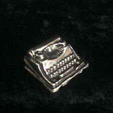 Dollhouse Miniature Typewriter Pewter Metal Decoration Monopoly Un Signed Piece
