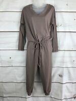 AnyBody Womens Petite Cozy Knit Long Sleeve Jumpsuit Pockets Drawstring PXXS