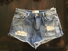 Zara Trafaluc Distressed Denim Cutoff Shorts