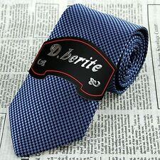 Navy Blue Pattern 3.15'' 100% Silk Classic Jacquard Woven Man's Tie Necktie JS19