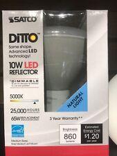 SATCO S9136LED 10BR30 5K NATURAL LIGHT 10W DIMMABLE MEDIUM BASE FLOOD 25000HR