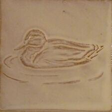 low relief tile, duck, mallard tile, terracotta handmade tile, Helen Baron