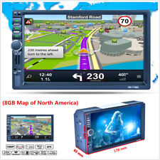"7"" 2DIN Touch Screen MP5 Player with GPS Nav Bluetooth RDS Radio Stereo+8GB Map"
