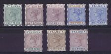 DD881 ST LUCIA 1883/91 an useful collection of  Queen Victoria stamps  MH