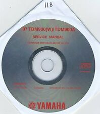 (CD118) CD MANUEL ATELIER MOTO YAMAHA TDM900(W) / TDM900A    2007