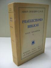 Praelectiones Biblicae Novum Testamentum I Simon-Dorado CATHOLIC Book Latin 1954