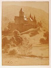 SANKT JOHANN BEI MAYEN - SCHLOSS BÜRRESHEIM - Volkmann - Farblithografie 1904