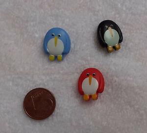 Kinderknöpfe Pinguin mit Öse 18mm
