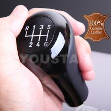 US STOCK for BMW 6 Speed Italian Leather Gloss Black Weighted MT Gear Shift Knob
