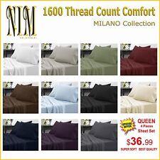 Luxurious 1600 TC Softness, Deep Pocket, 3 or 4 pc BED SHEET SET DUVET COVER SET
