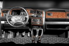VW GOLF 3 (08.91 > 03.95) WOOD LOOK DASH KIT WALNUT by RICHTER GERMANY 20pce