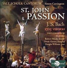 NEW Bach: St. John Passion; 2008 CD, Yale Schola Cantorum, Carrington, Rezound N