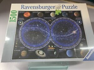 "Ravensburger Celestial Map by David Penfound  32"" x 24"" 1500 pc. puzzle 2006 NEW"