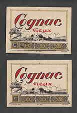 Ancienne étiquette    Alcool  France  Cognac Vieux