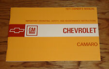 1971 Chevrolet Camaro Owners Operators Manual 71 Chevy
