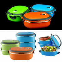 1 Layer Stainless Steel Insulated Lunch Box Hot Food Container Picnic Kids Adult