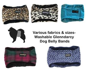 Glenndarcy Deluxe Male Dog Belly Band Nappy - Various Sizes & Cotton Fabrics