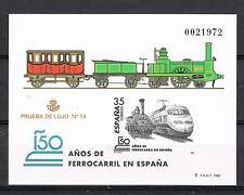 ESPAÑA - PRUEBA Nº 67 150 AÑOS DE FERROCARRIL EN ESPAÑA