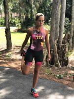 Triathlon Cycling Suit Swim Run Womens Medium