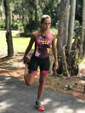 Triathlon Cycling Suit Swim Run Womens Available in Large, Medium and Small