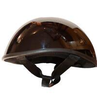 Motorcycle Half Helmet DOT Open Face Chopper Cruiser Bike Skull Cap Size M
