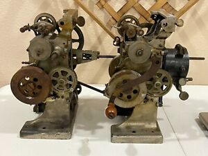 ANTIQUE MOVIE PROJECTOR HAND CRANK LOT OF 2 FOR PARTS OR RESTORATION