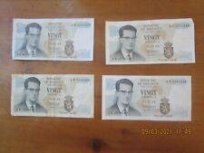 lot de 14 billets Belge: 11 de  20 Fr de 1964, 2 de 20 Fr de 1956 , 1 de 100 F