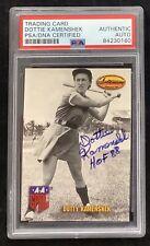 Dottie Kamenshek Signed Ted Williams Baseball Card PSA/DNA Peaches Autograph