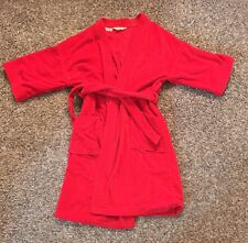 VINTAGE 1960s 70s State O Maine Robe Smoking Jacket Brazil Bright Red One Size