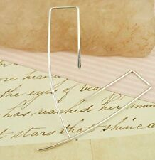 Hammered Rectangle Earrings in Argentium Sterling Silver
