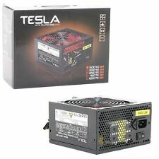 Tesla 500W ATX PSU PC Power Supply 120mm Silent Red Fan PFC 20+4Pin 2x SATA