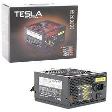 Tesla 500W ATX PSU PC Alimentazione Ventola 120mm SILENT Rosso PFC 20+4Pin 2x SATA
