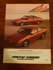 Pontiac Sunbird convertible used car magazine ad 83 1984 1985 1986 1987 88 89 90