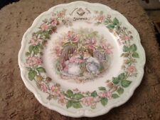 """Royal Doulton Brambly Hedge Summer 8"""" Plate.                               (555)"""