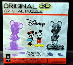 3D Crystal Puzzle Disney Minnie Mouse & Mickey Mouse BePuzzled NEW
