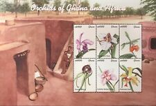 GHANA ORCHIDS STAMP SHEET 6V 2001 MNH AFRICA ORCHID FLOWERS NATURE WILDLIFE