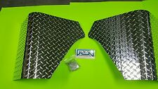 JEEP YJ WRANGLER 2 PC DIAMOND PLATE REAR BODY ARMOR CORNER GUARD KIT
