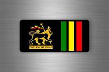 Sticker car decal rasta reggae JAH macbook lion of judah one love rastafarai r7